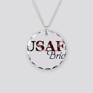 USAF Bride (Flag) Necklace Circle Charm