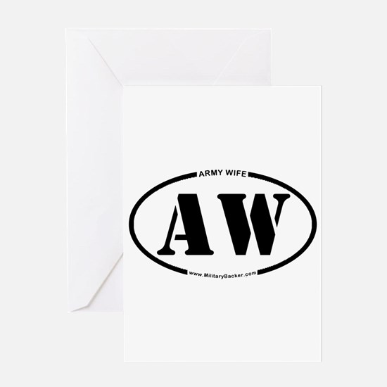 Army Wife (Oval) Greeting Card