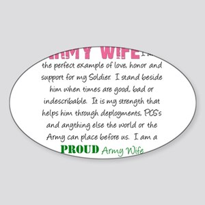 I am...Army Wife Sticker (Oval)