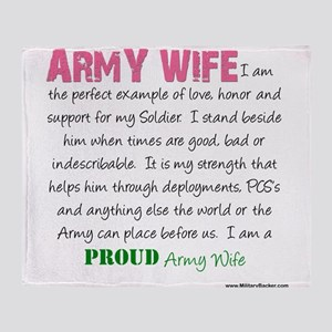 I am...Army Wife Throw Blanket