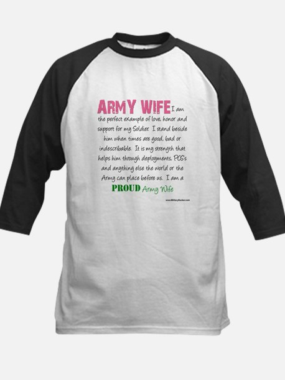 I am...Army Wife.png Kids Baseball Jersey