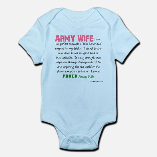I am...Army Wife.png Infant Bodysuit