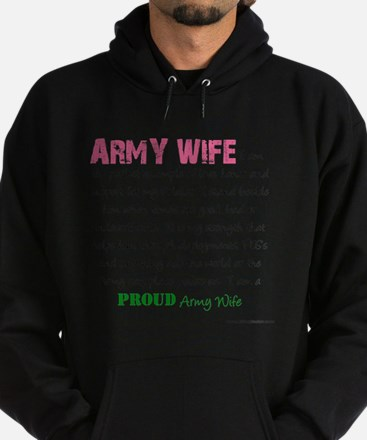 I am...Army Wife.png Hoodie (dark)