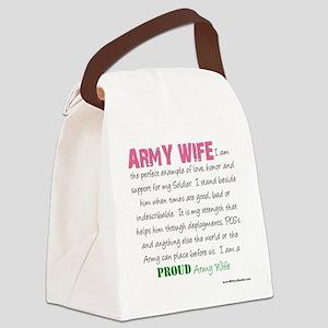 I am...Army Wife Canvas Lunch Bag