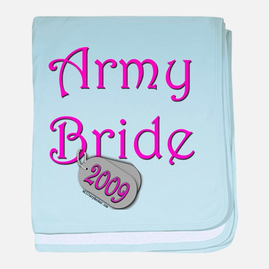 Army Bride Dog Tag_2009.png baby blanket