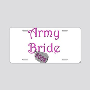 Army Bride Dog Tag 2008 Aluminum License Plate