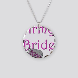 Army Bride Dog Tag 2008 Necklace Circle Charm
