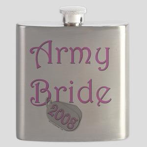 Army Bride Dog Tag 2008 Flask