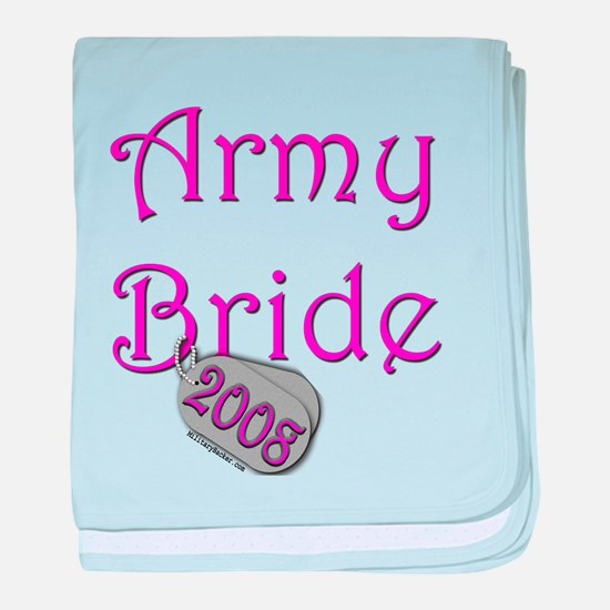 Army Bride Dog Tag 2008.png baby blanket