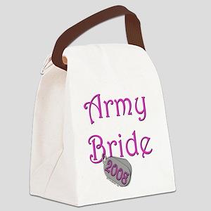 Army Bride Dog Tag 2008 Canvas Lunch Bag