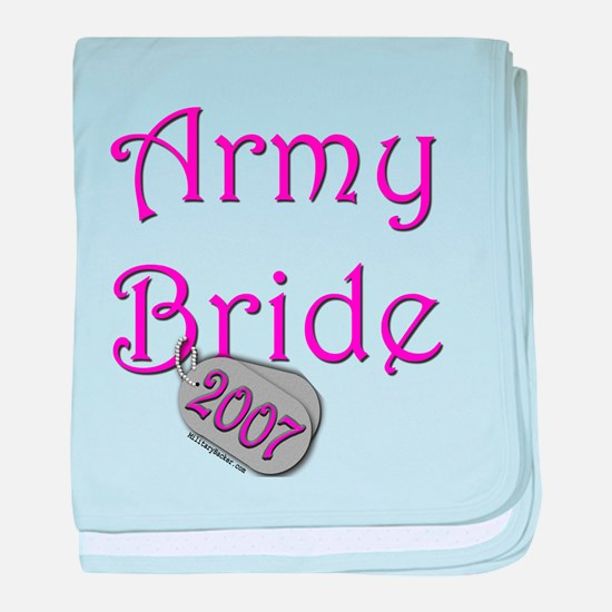 Army Bride Dog Tag_2007.png baby blanket