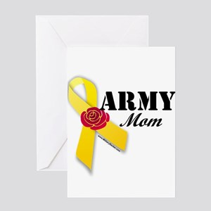 Army Mom (Ribbon Rose) Greeting Card