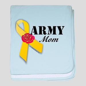 Army Mom (Ribbon Rose) baby blanket