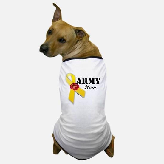 Army Mom (Ribbon Rose) Dog T-Shirt