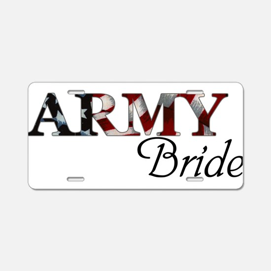 Funny Army bride Aluminum License Plate