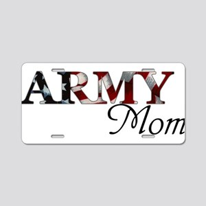 Army Mom (Flag) Aluminum License Plate