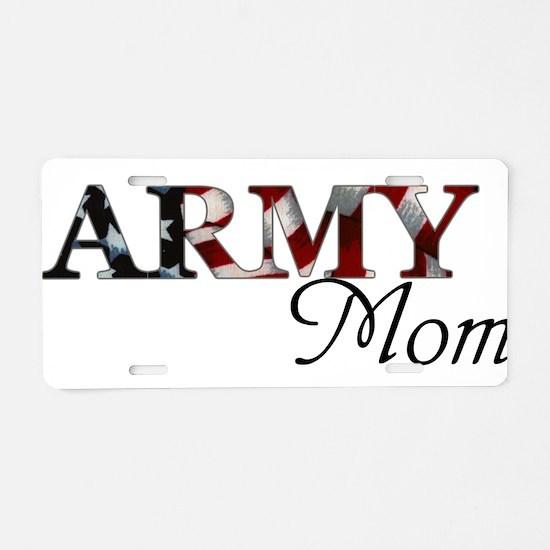 Army Mom (Flag) Aluminum License Plate