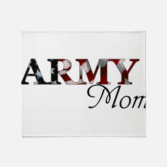 Army Mom (Flag) Throw Blanket