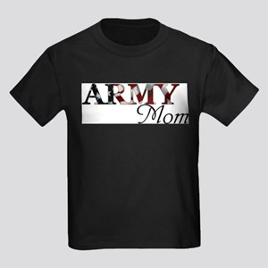 Army Mom (Flag) Kids Dark T-Shirt