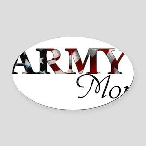 Army Mom (Flag) Oval Car Magnet