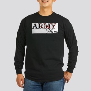 Army Mom (Flag) Long Sleeve Dark T-Shirt