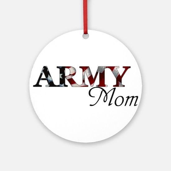 Army Mom (Flag) Round Ornament