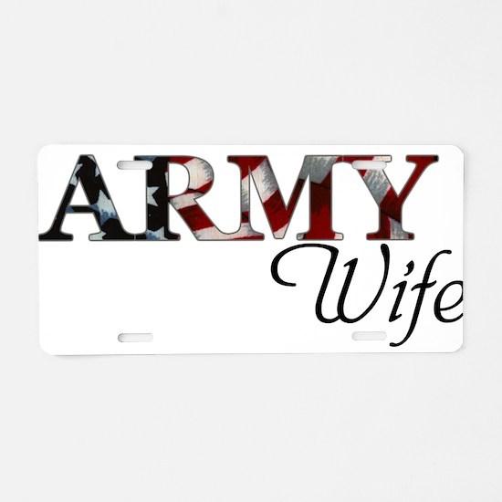 Cute Army bride Aluminum License Plate