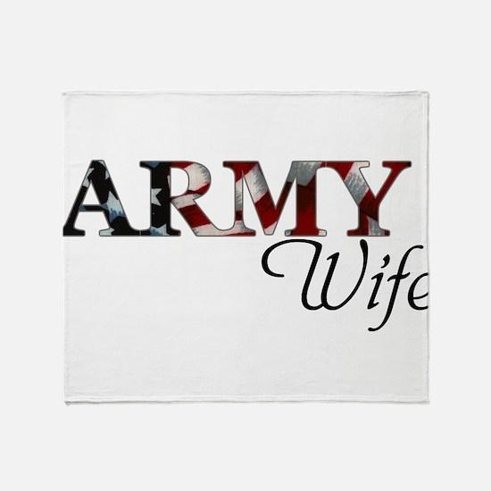 Cute Army wife Throw Blanket