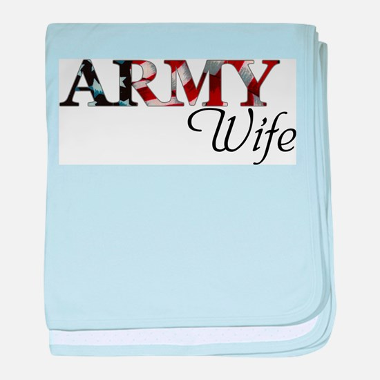 Cute Military family baby blanket