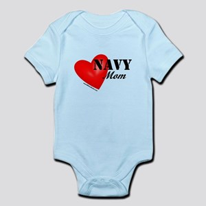 Red Heart_Navy_Mom Body Suit