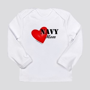 Red Heart_Navy_Mom Long Sleeve T-Shirt
