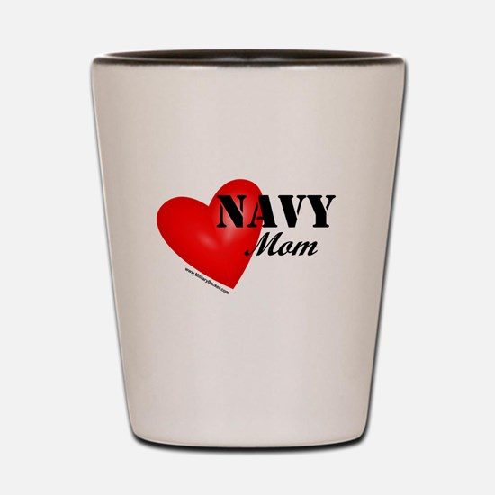 Red Heart_Navy_Mom.png Shot Glass