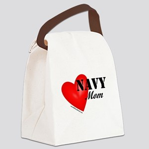 Red Heart_Navy_Mom Canvas Lunch Bag