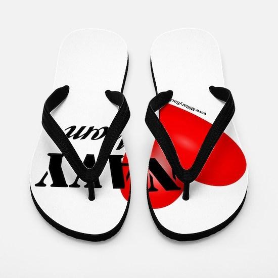 Red Heart_Navy_Mom.png Flip Flops