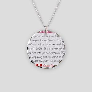 I am...Coast Guard Wife Necklace Circle Charm