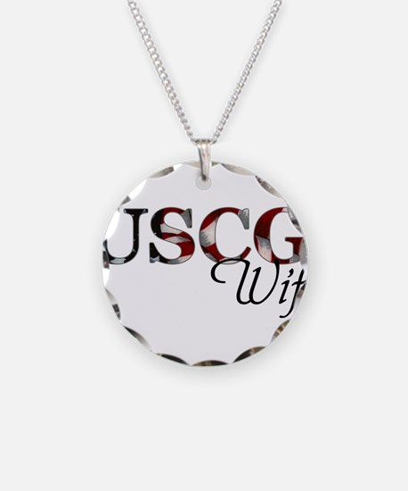 USCG Wife (Flag) Necklace