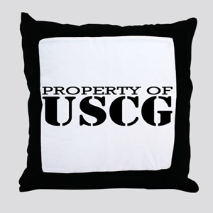 Property of USCG Throw Pillow