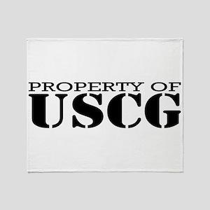 Property of USCG Throw Blanket