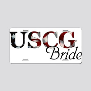 USCG Bride (Flag) Aluminum License Plate
