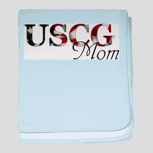 Mom USCG_flag  baby blanket