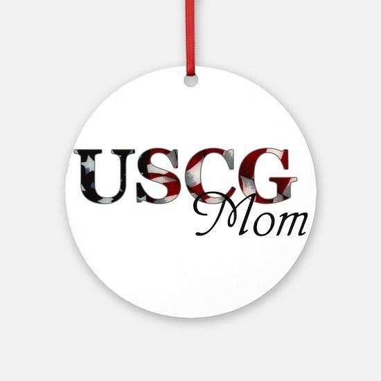 Mom USCG_flag .png Round Ornament