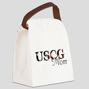 Mom USCG_flag  Canvas Lunch Bag