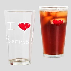 I love heart Bernie Sanders 2016 el Drinking Glass