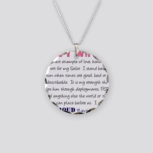 I am...Navy Wife Necklace Circle Charm