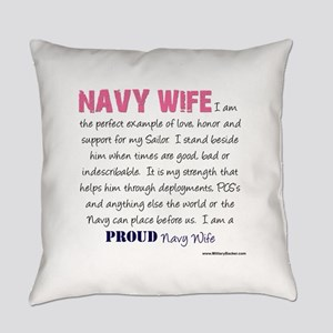 I am...Navy Wife Everyday Pillow