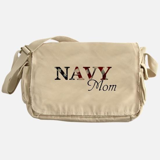 Cute Navy fiance Messenger Bag