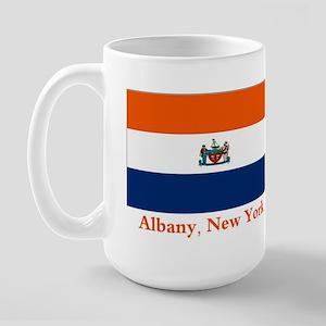 Albany NY Flag Large Mug