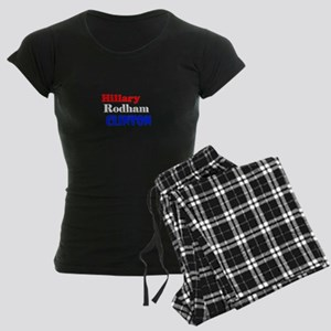 Hillary Rodham Clinton Women's Dark Pajamas