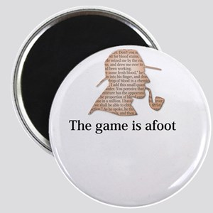 the game is afoot Sherlock Holmes mystery Magnets