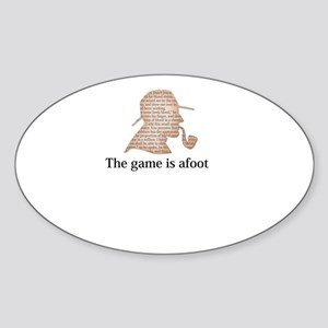 the game is afoot Sherlock Holmes mystery Sticker